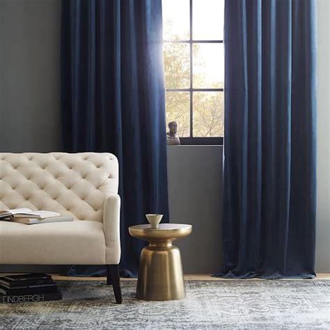 curtain navy blue velvet curtains jamiafurqan interior