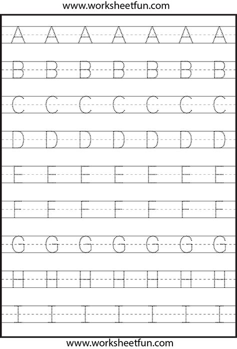 letter tracing  worksheets kindergarten worksheets