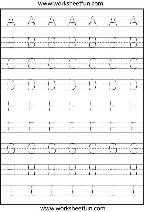 letter tracing  worksheets kindergarten worksheets