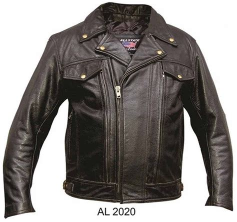 Allstate Leather Men 39 S Black Top Grain Buffalo Leather