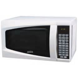 kitchen island cart stainless steel top sunbeam sm0701a7e 7 cubic foot microwave oven white