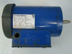 Marathon Electric Motor 2hp 1ph 230v 3450rpm Nvj