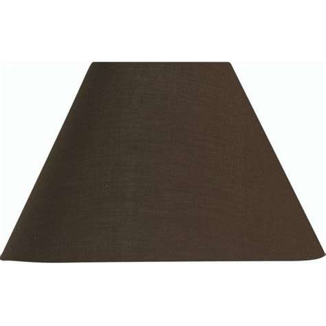 Coolie L Shade by Oaks Lighting Cotton Coolie Chocolate Fabric Shade