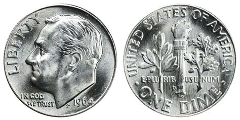 1964 dime value 1964 d roosevelt dimes silver composition value and prices