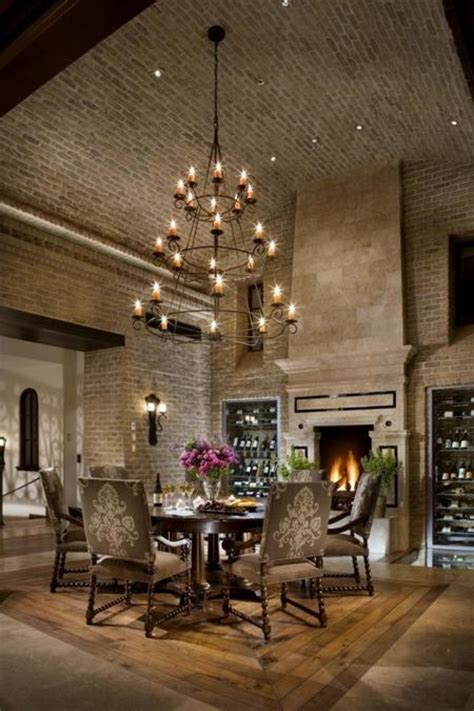 modern kitchens  dining room designs enhanced  exposed brick wall  ceiling