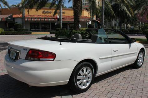 2005 Chrysler Sebring Gas Mileage by Buy Used 2005 Chrysler Sebring Gtc Convertible 1 Owner Fla