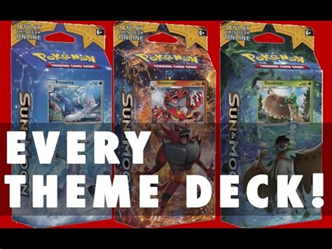 Theme Deck Opening by Opening Every Sun Moon Theme Deck
