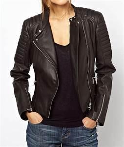 Veste Style Motard Femme : le petit blouson en cuir larcenette ~ Melissatoandfro.com Idées de Décoration
