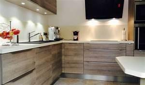 exceptionnel cuisine moderne avec ilot central 11 With cuisine contemporaine en bois