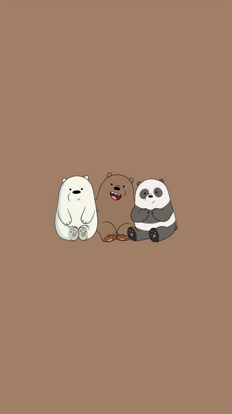 we bare bears aesthetic brown wallpaper simple kawaii