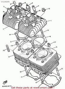 Yamaha Vk540er Viking 1991 Cylinder