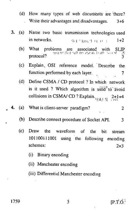 Guru Nanak Dev University PGDCA II Sem Computer Network