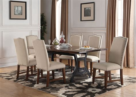 nora table   upholstered side chairs levin furniture