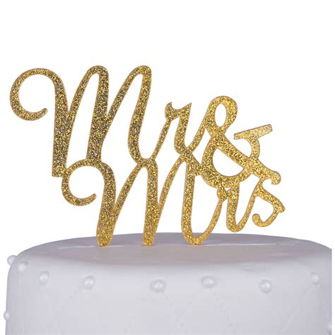 Unik Occasions Mr And Mrs Script Acrylic Cake Topper