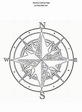 Compass Rose Coloring Template sketch template