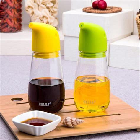 kitchen storage bottles transparent glass kitchen liquid seasoning storage bottles 3124