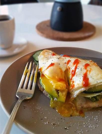 Breakfast Fried Egg Avocado Tzatziki Kitchen Feta