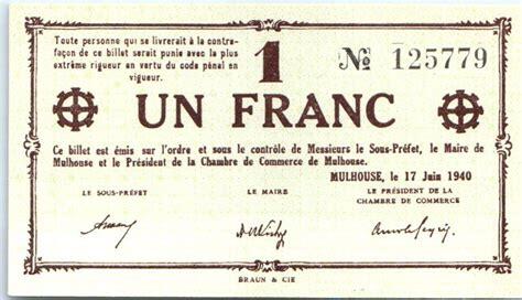 chambre des commerces mulhouse billet 1 franc mulhouse chambre de commerce sans