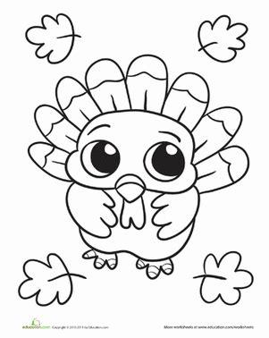 baby turkey worksheet educationcom