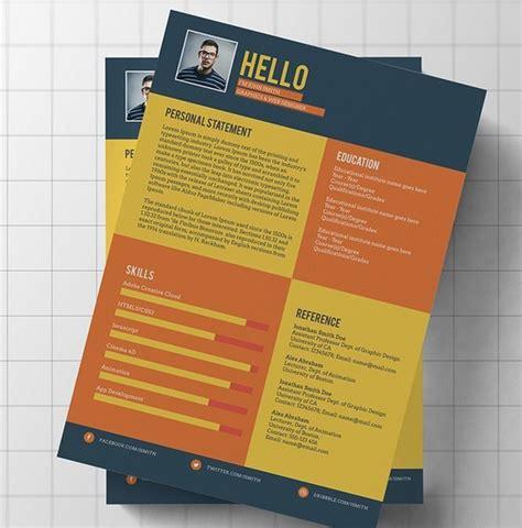 free flat modern resume cv template psd titanui