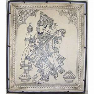 Black And White Ganesha Wall Painting | Art | Pinterest