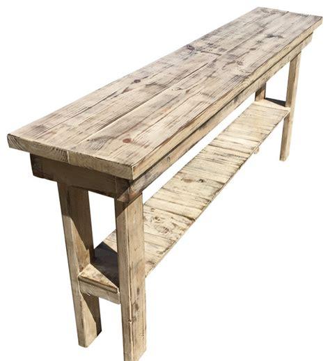 farmhouse style console table rustic distressed console table 60 quot in length farmhouse