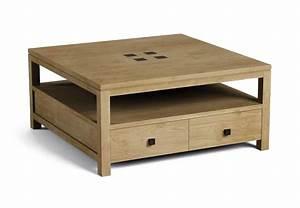 Table Basse Carrée : table basse teck keywest le meilleur du teck grade a dans cette table basse ~ Teatrodelosmanantiales.com Idées de Décoration