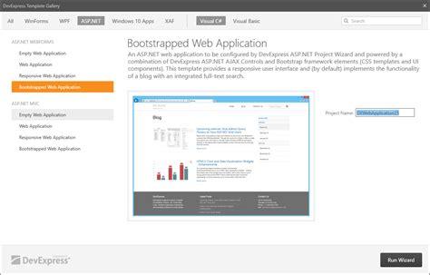 Aspx Net Templates Asp Net New Bootstrap Template Wizard V16 1 Asp Net