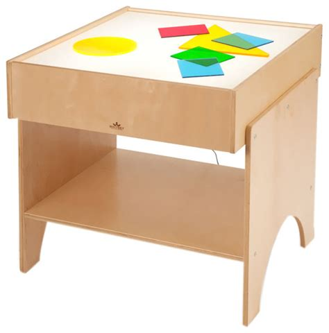 childrens desk with light brothers children learning shapes color
