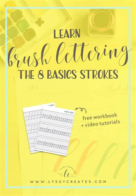 Learn Brush Pen Calligraphy The Basic 8 Strokes