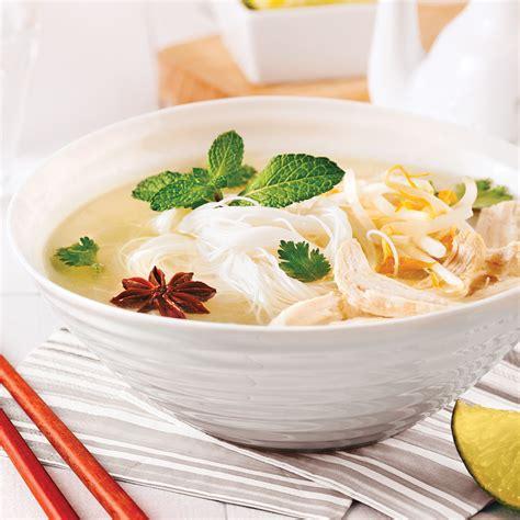 cuisiner vermicelle de riz soupe vietnamienne au poulet et vermicelles de riz