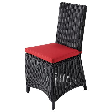 coussin de chaise maison du monde chaise de jardin coussin en résine tressée et tissu porto vecchio maisons du monde
