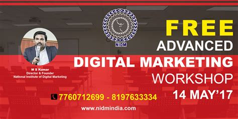 Advanced Digital Marketing by Book Free Workshop On Advanced Digital Marketing Tickets
