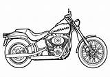 Motorcycle Coloring Pages Printable Chopper Drawing Popular sketch template