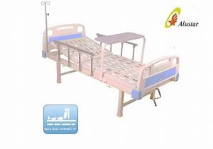 One Crank Medical Hospital Beds Overbed Table Plastic
