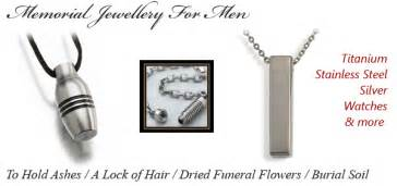 lockets for ashes memorial jewellery for men