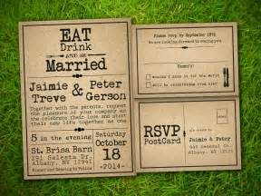 rustic wedding invitations etsy template1