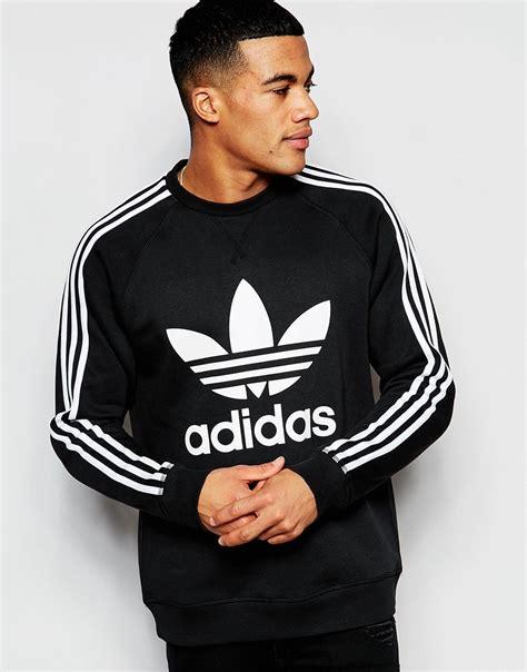 Adidas originals Trefoil Sweatshirt Ap8988 in Black for Men   Lyst