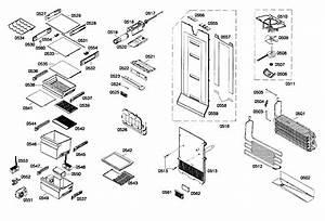 Refrig Assy Diagram  U0026 Parts List For Model B22cs80sns01 Bosch