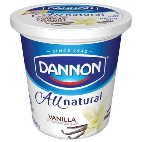 vanilla yogurt dannon vanilla all natural lowfat yogurt 32 oz 00036632002105 dannon vanilla all natural