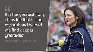 Sheryl Sandberg speaks publicly about her husband's death ...
