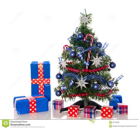 red white blue christmas tree stock photo image