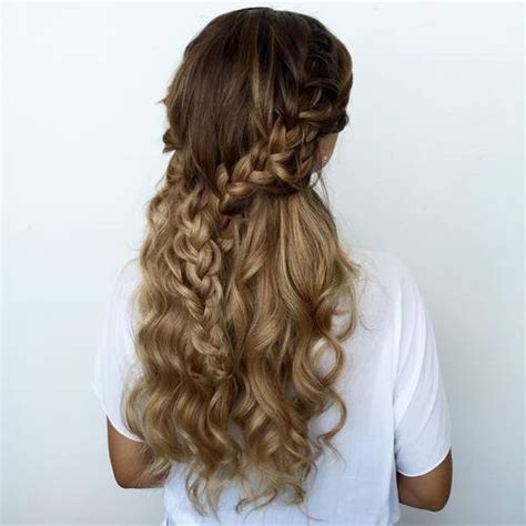 Half Braided Half Curly Hairstyles by 40 Two Braid Hairstyles For Your Looks