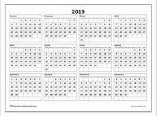 Calendário de de 2019 34DS