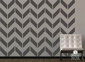 chevron pattern wall decals vinyl art stickers vinyls With chevron template for walls