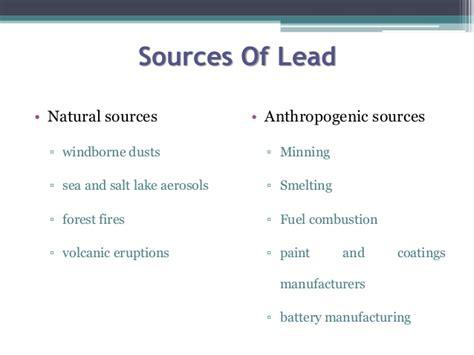 Types Of Lead Bioremediation