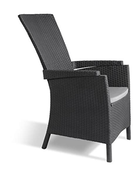 keter lounge chairs grey allibert by keter vermont rattan reclining chair outdoor