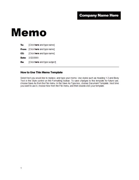 Memo Template by Office Memo Format Free Template Downloads