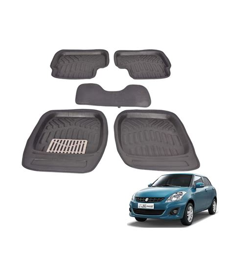 floor mats price in india canabee 3d car floor mats for maruti swift dzire set of 5 mats black buy canabee 3d car