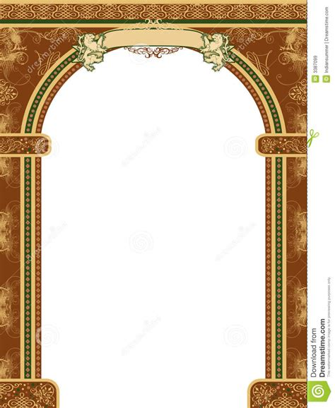 arch  ornaments  banner stock illustration image